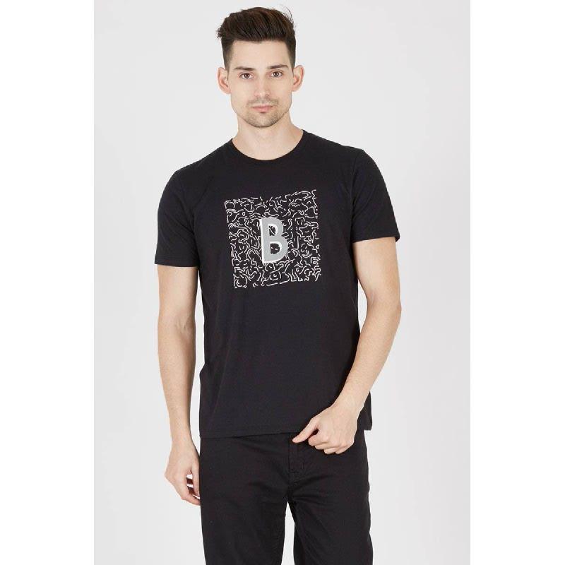 Men T-Shirt invisible B Black