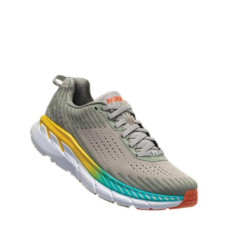Hoka One One Clifton 5 Women Running Shoes green