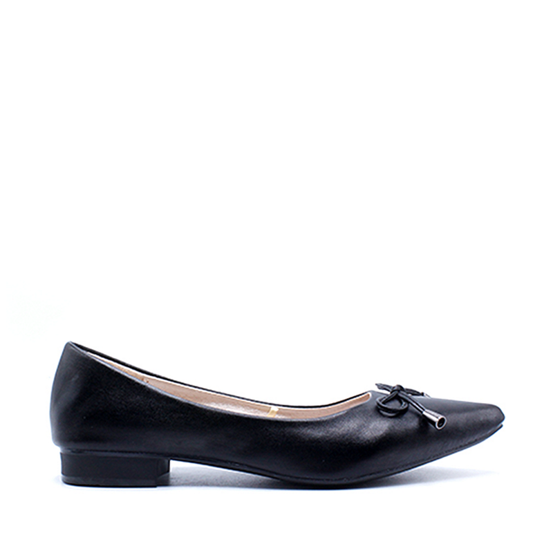 DEA Pointed Flat Shoes 1808-044 Black