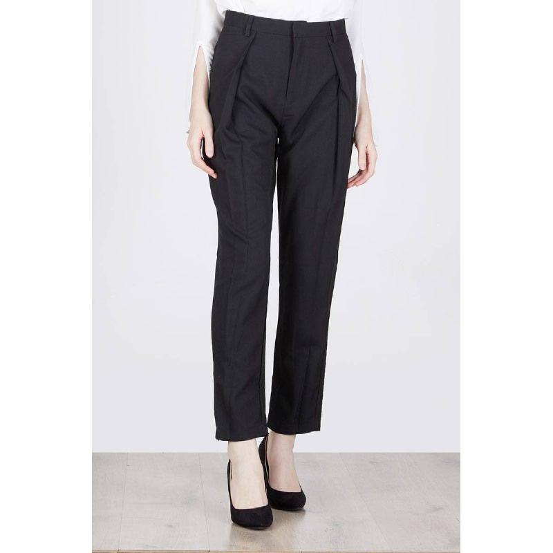 Mable Pleat Pants Black
