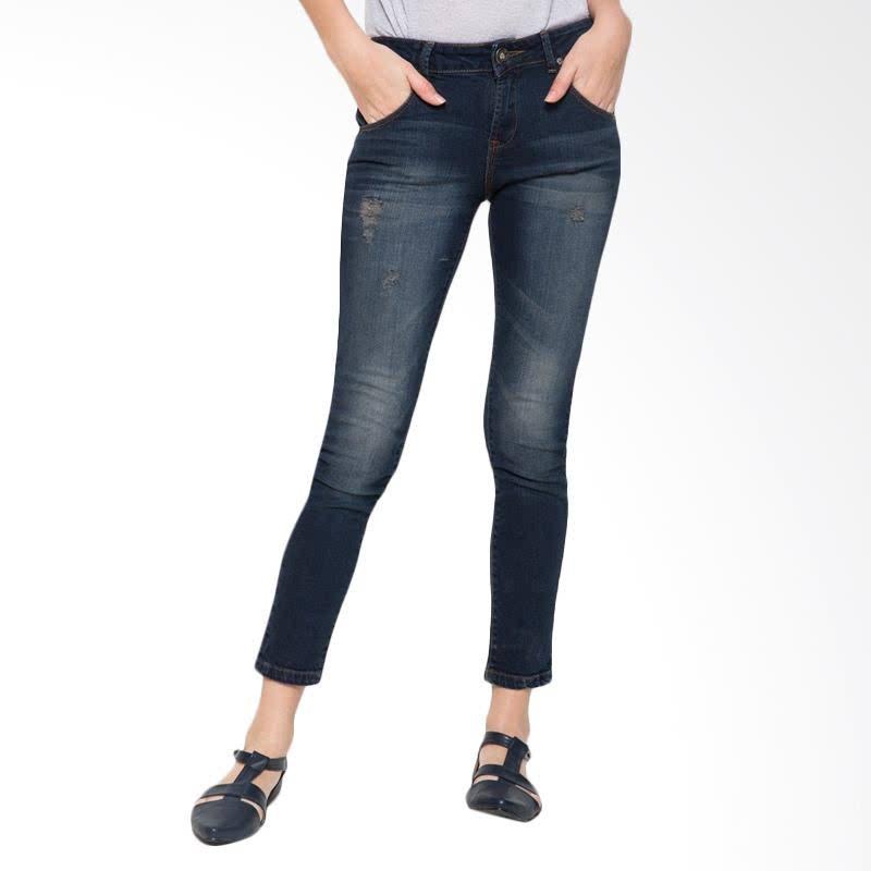 Ladies Jeans Elvida Ripped - Blue