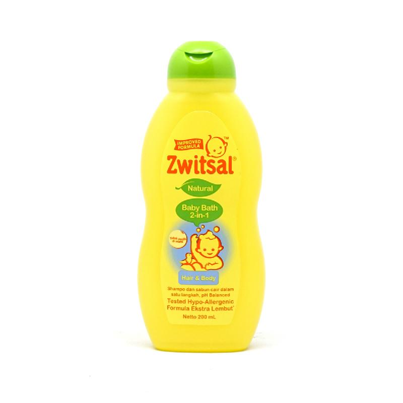 Zwitsal Baby Bath 2 In 1 Hair & Body Natural 200 Ml