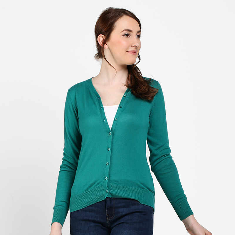 Elle Cardigan Green