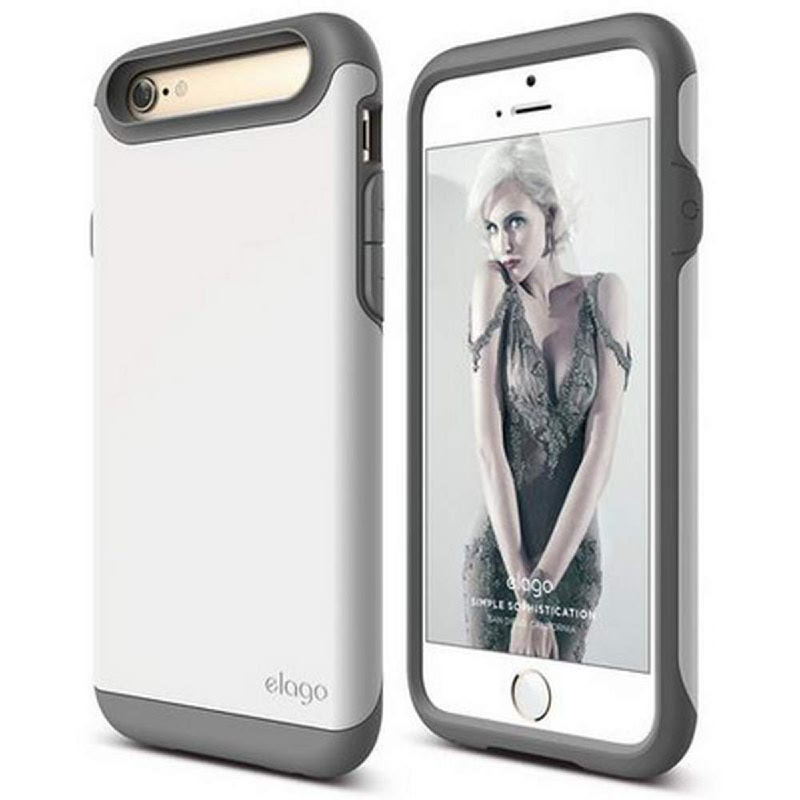 Elago Duro Gray Case for iPhone 6, 6S - Matt Dark Gray + UV White