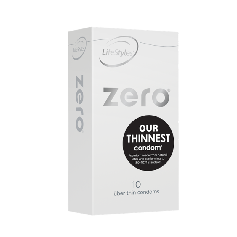 Ansell Zero Ultra Thin Condoms 8s
