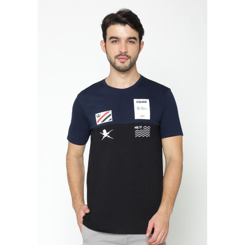 17Seven Hand Men Tshirt Navy