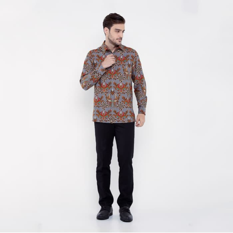 Asana Batik Long Sleeve LSDR64GRY Grey