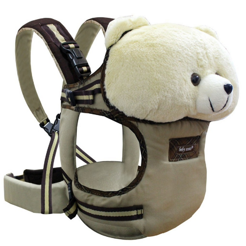 Baby Scots Gendongan Boneka Stuffed Animal Baby CarrierISG004 Cokelat