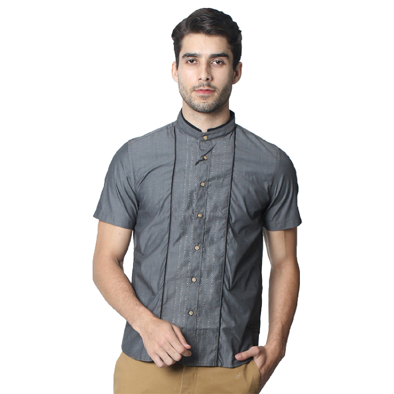 Manzone Koko Shirt Shortsleeve Fakelondon Armenian Grey