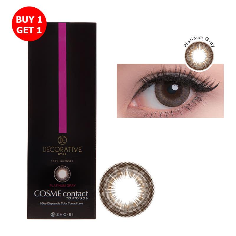 Shobi Platinum Gray  (-4.50) 1 Day Disposable Cosme Contact Lens  2pcs