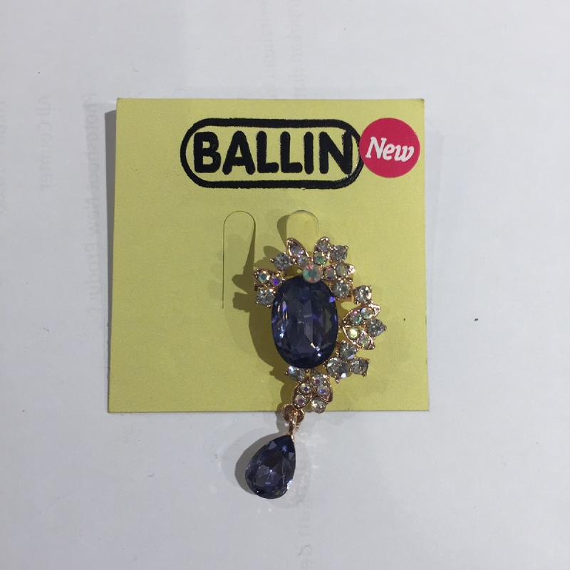 Ballin Women Brooch LF-BRXZ8065G-2 Blue