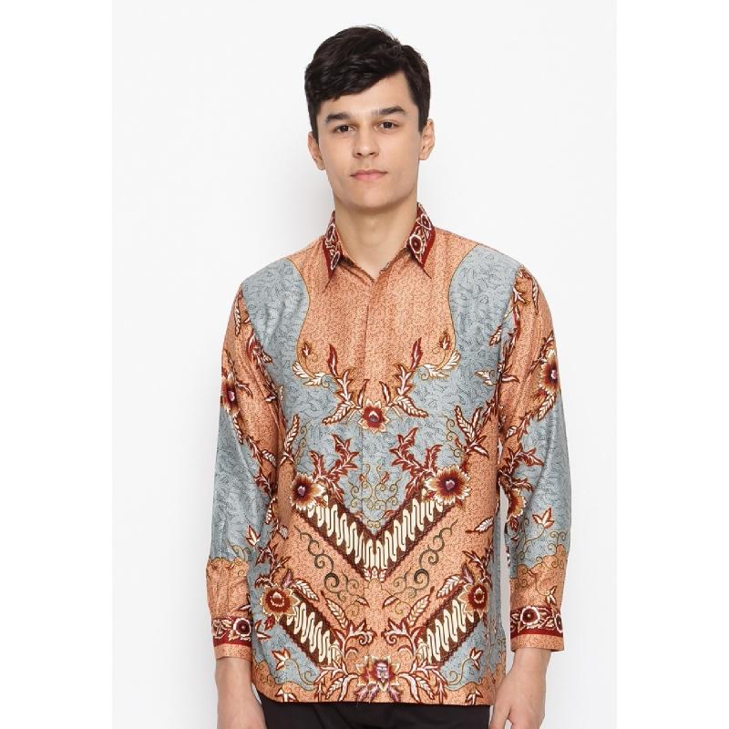 Batik Lengan Panjang KB-LE-2847 Grey