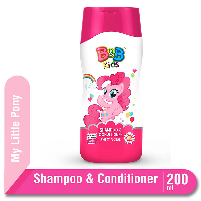 B&B Kids Shampoo and Conditioner Little Pony Sweet Floral 200 Ml