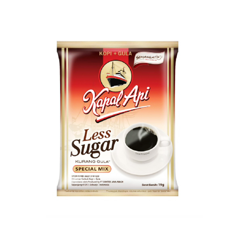 Kapal Api Spc Mix Less Sugar Bag 20x19gr