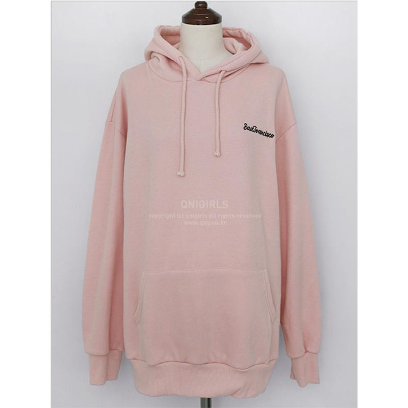 Qnigirls Long Hoodie - Pink