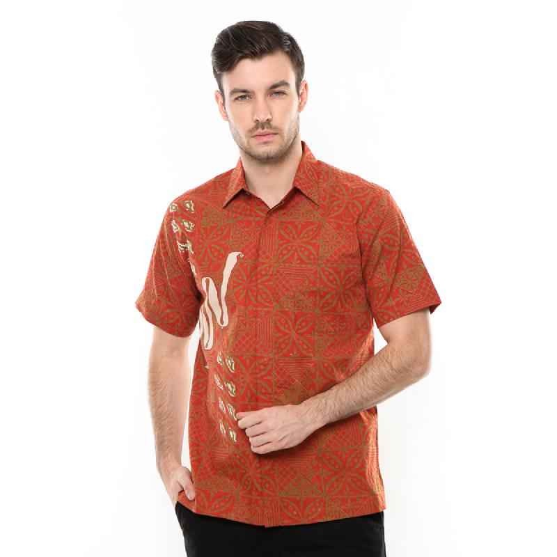 Agrapana Batik Lengan Pendek 104.01.863.03.Orange