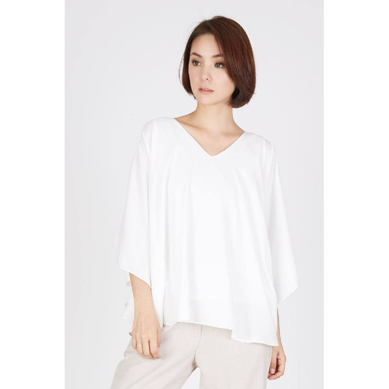 Pricilla Cold Shoulder Top White