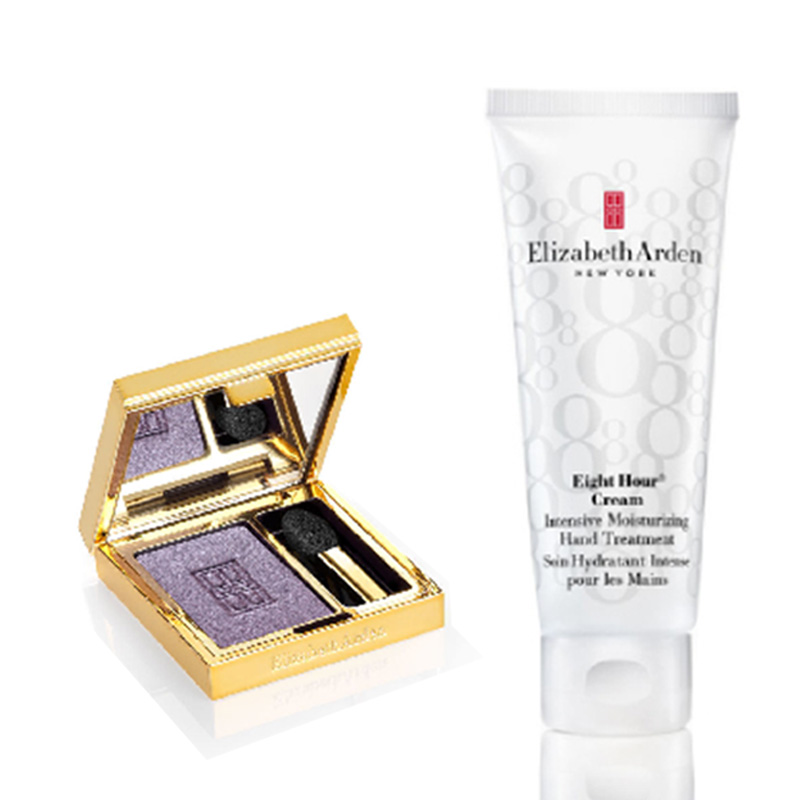 Elizabeth Arden Eight Hour Hand Cream+Beautiful Color Eyeshadow single Amethyst