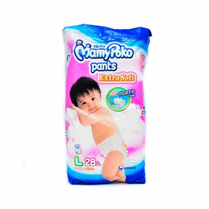 Mamypoko Popok Celana Ekstra Lembut L Girl 28 Pcs