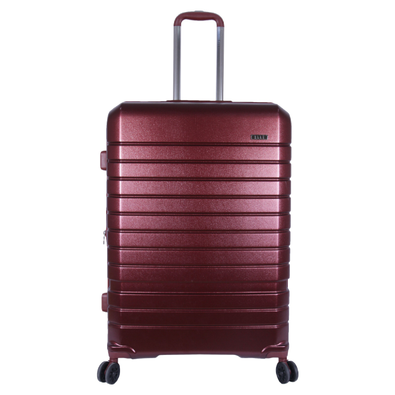 Elle Luggage Hardcase size 28 inch 4 Wheels TSA Lock Anti Theft Red