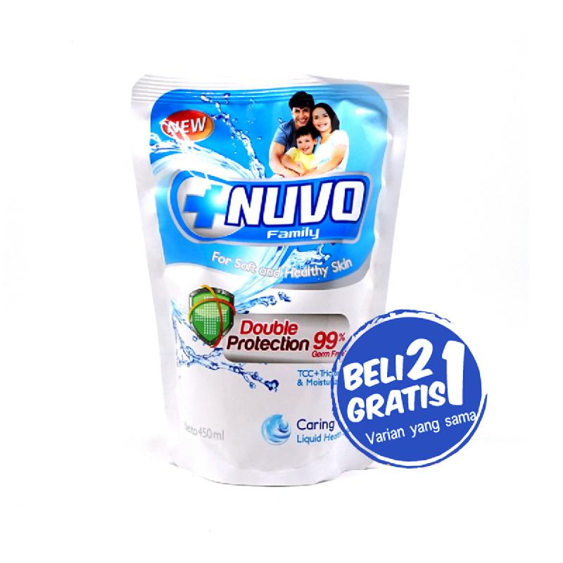 Nuvo Body Foam Caring Putih Pouch 450Ml (Buy 2 Get 1)