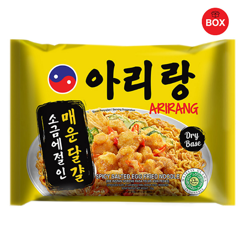 Arirang Spicy Salted Egg Fried Noodle (1 Karton isi 20 pcs)