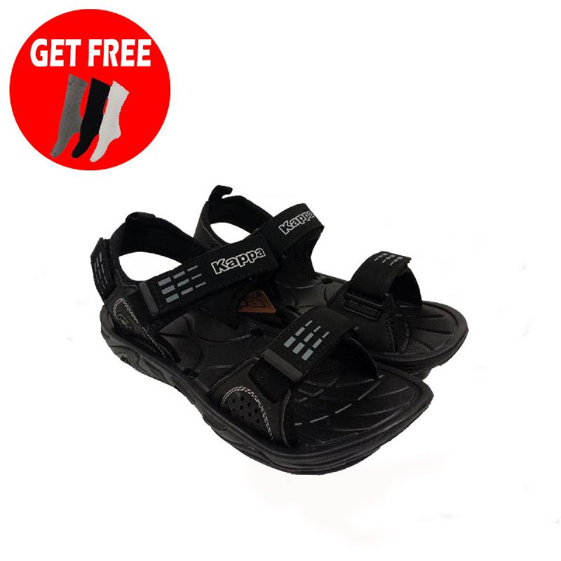Kappa KG4FD127 Sport Sandal - BLK (Free Kappa Spica Kaos Kaki KSK1 - 3 Psg - BK GY WE )