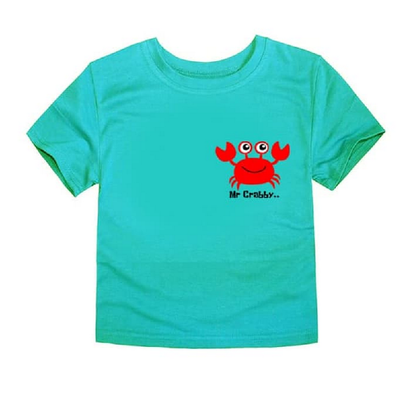 Little Fresco - Kaos Anak Mr Crabby Hijau Muda Light Green