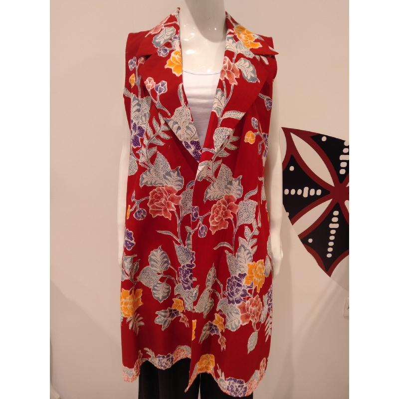Astari Batik Coat Red