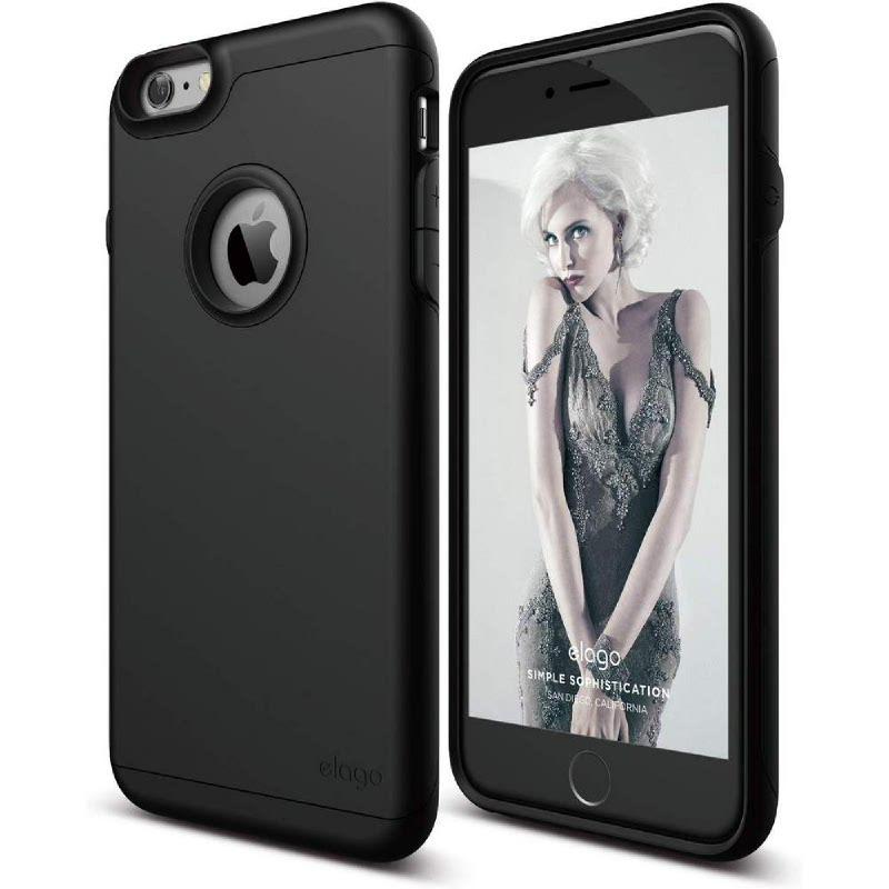 Elago Duro Gray Case for iPhone 6 Plus, 6S Plus - Black