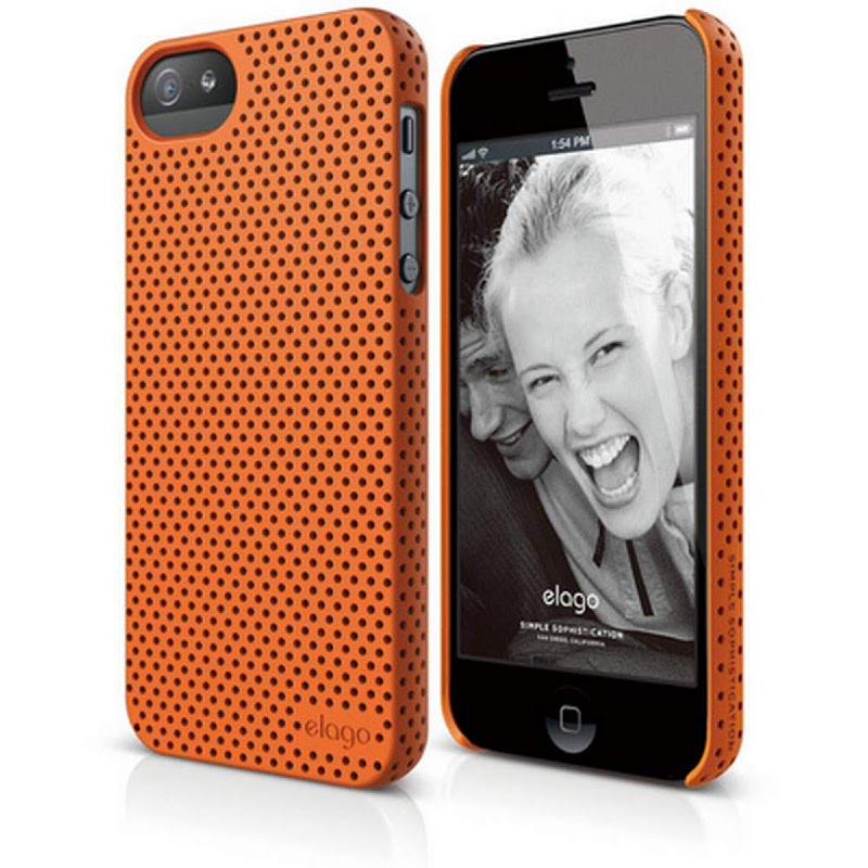Elago Breath Case for iPhone SE, 5, 5S - SF Orange