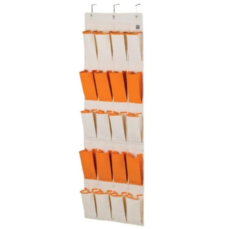 LOCK&LOCK Eco Living Hanging Storage Pocket Kotak Penyimpanan Gantung 20 Shelf Orange LLB253O