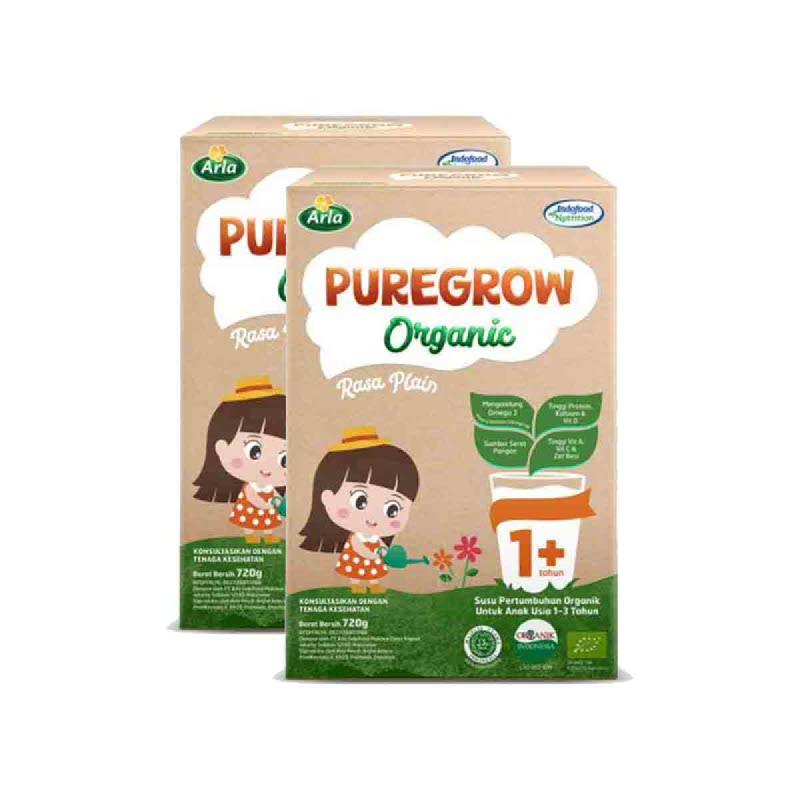 Arla Susu Bubuk Puregrow Girl 1+ 720 Gr (Get 2)