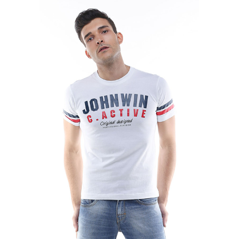 Slim Fit - Kaos Casual Active - Johnwin Original - Putih