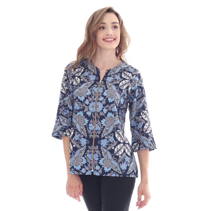 Adinata Batik Ezra Blouse Blue