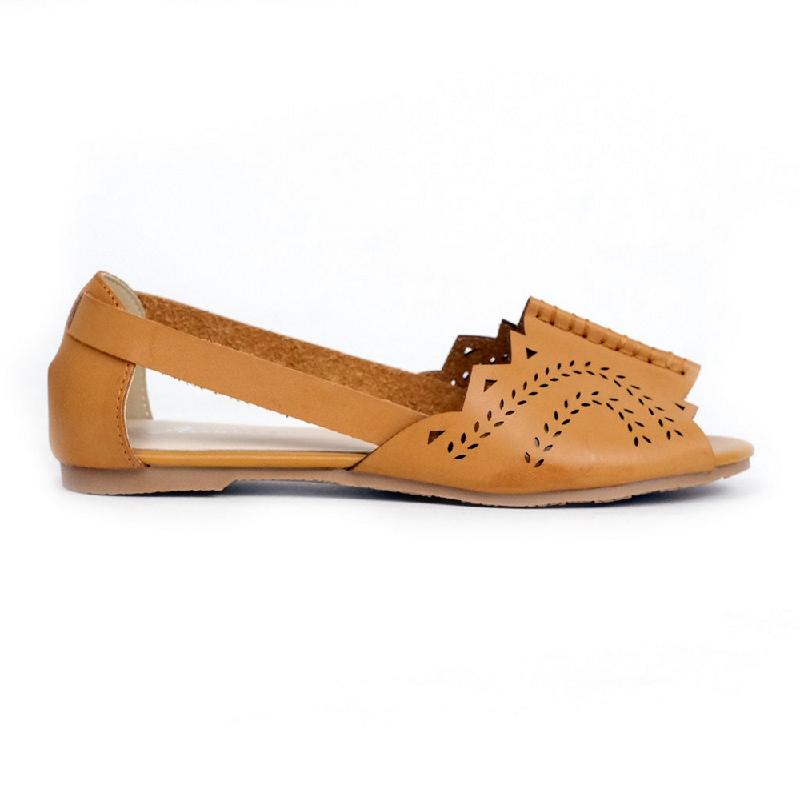 Austin Flat Shoes Kace Brown