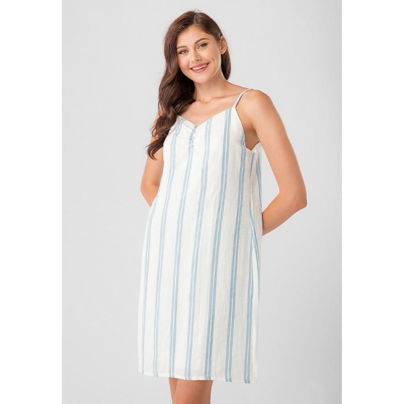 Lovadova Belle Stripe Dress Blue