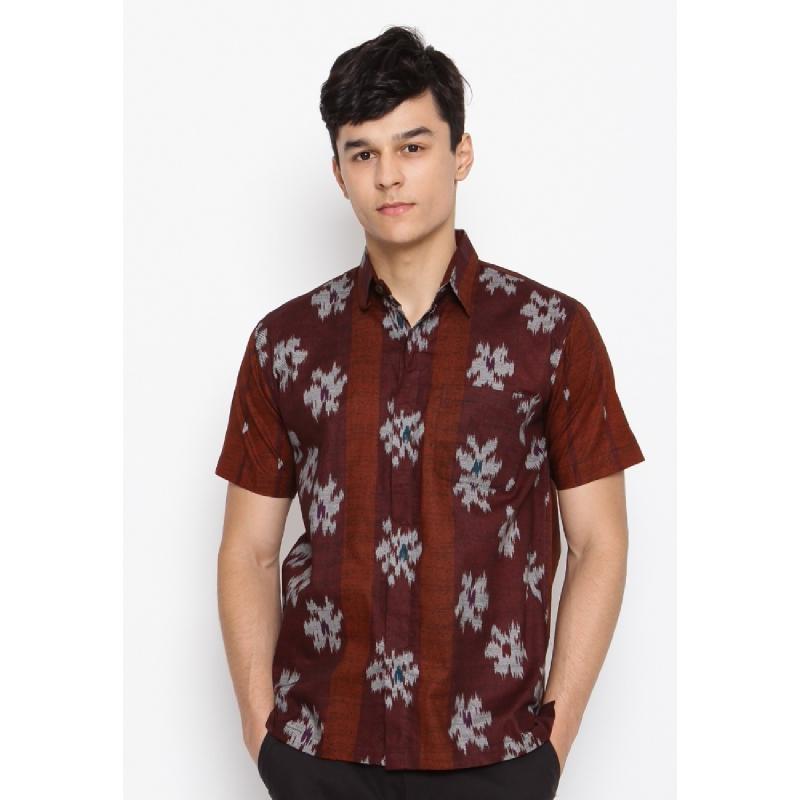 Batik Lengan Pendek HB-LE-51172 Brown