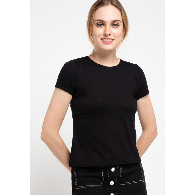 Llaces Clothing Lark Tee Round Neck Black