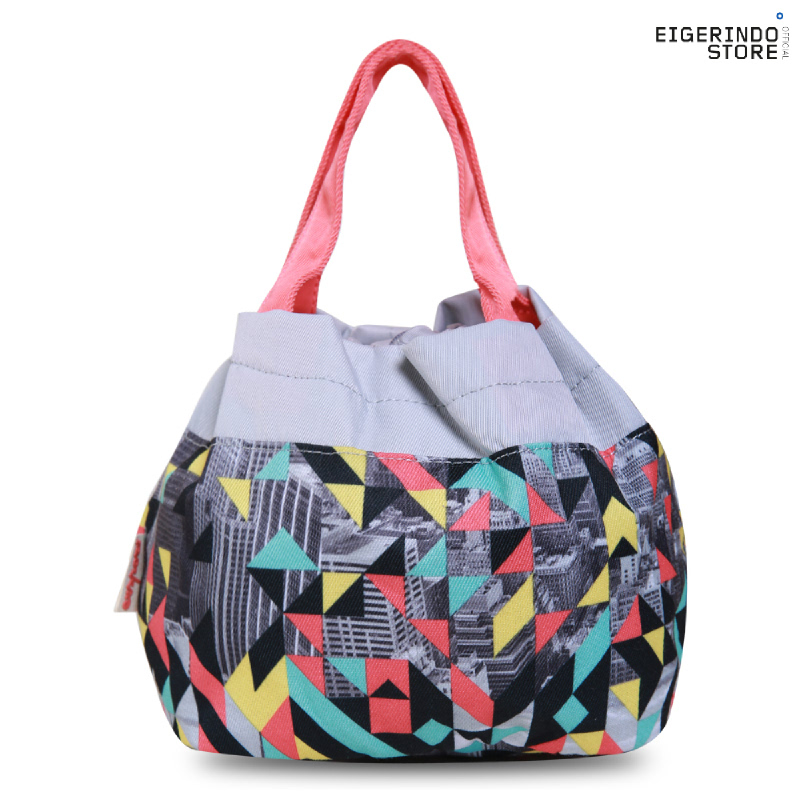 Exsport Lunch Bag Disco Town - Grey