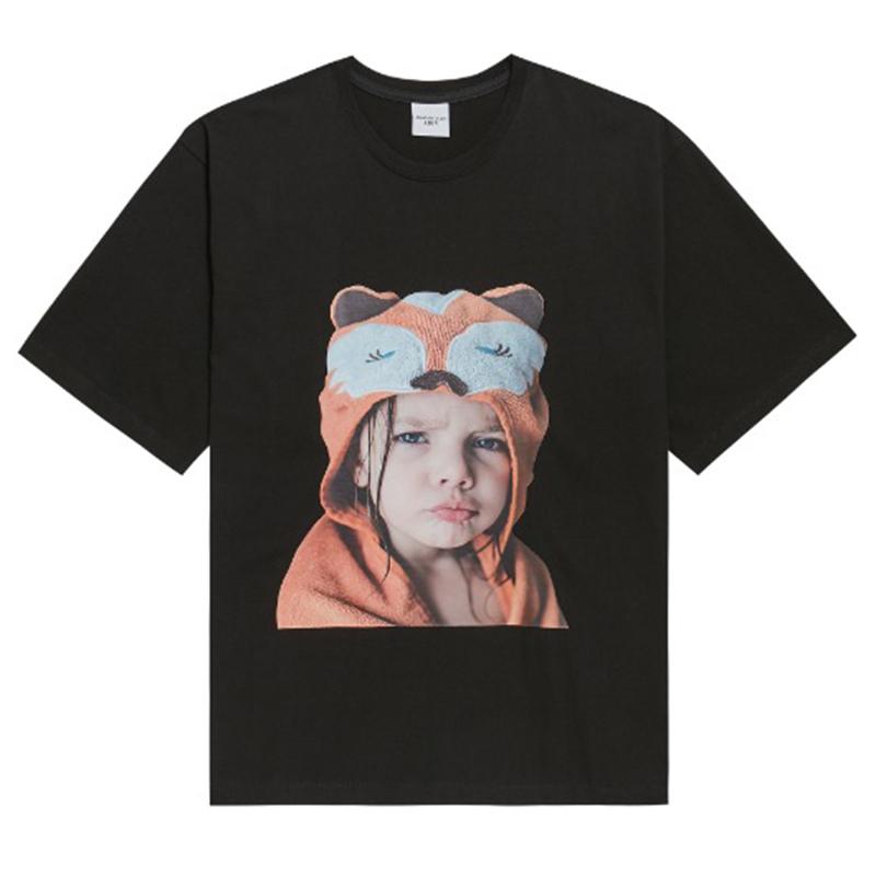 ADLV Acme De La Vie Baby Face Short Sleeve T-Shirt Black - Raccoon