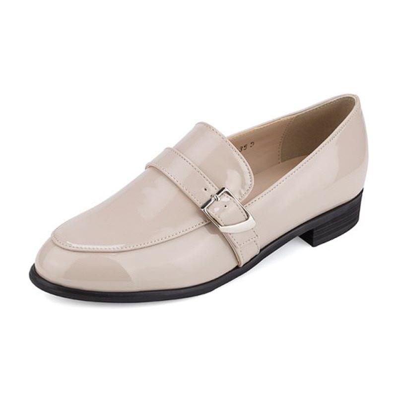 Loafer LS7047 Glossy belted loafer Beige