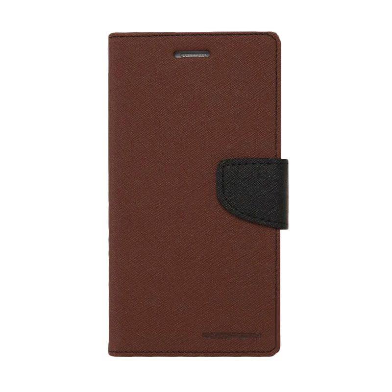 Goospery Fancy Diary I Phone 6 - Brown Hitam
