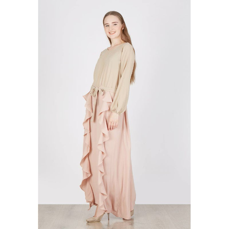 Riya Long Dress Brown