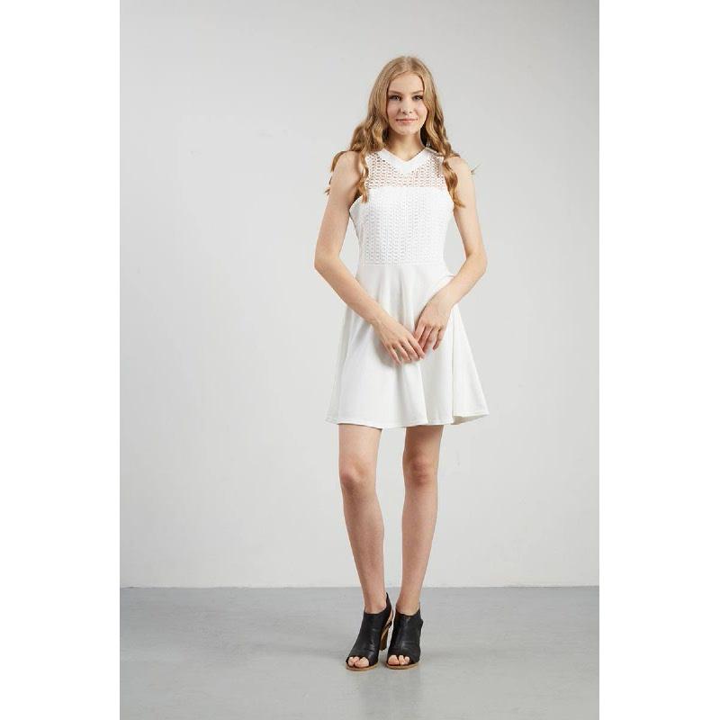 Francois Dendorf Dress in White