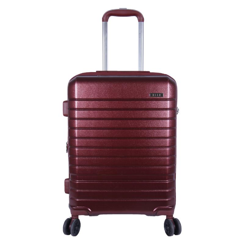 Elle Luggage Hardcase size 20 inch 4 Wheels TSA Lock Anti Theft Red