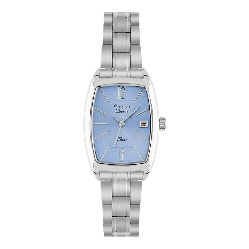Alexandre Christie AC 2456 LD BSSLB Ladies Passion Blue Dial Stainless Steel Strap