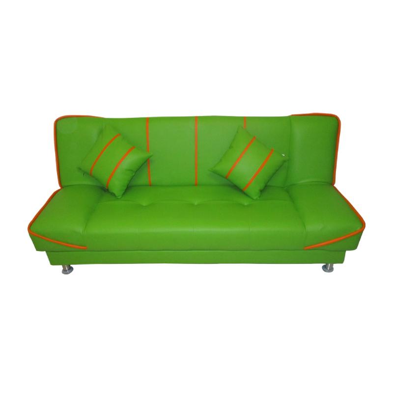 Anya Living Saigon Sofa Bed - Hijau Garis Orange