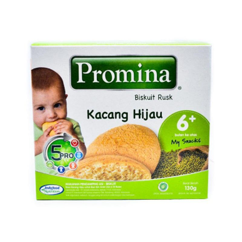 Promina Biskuit Rusk Rasa Kacang Hijau 130 Gr