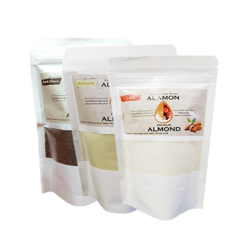Alamon Milk Rasa Dark Chocolate + Alamon Milk Rasa Avocado + Alamon Milk Rasa Leci